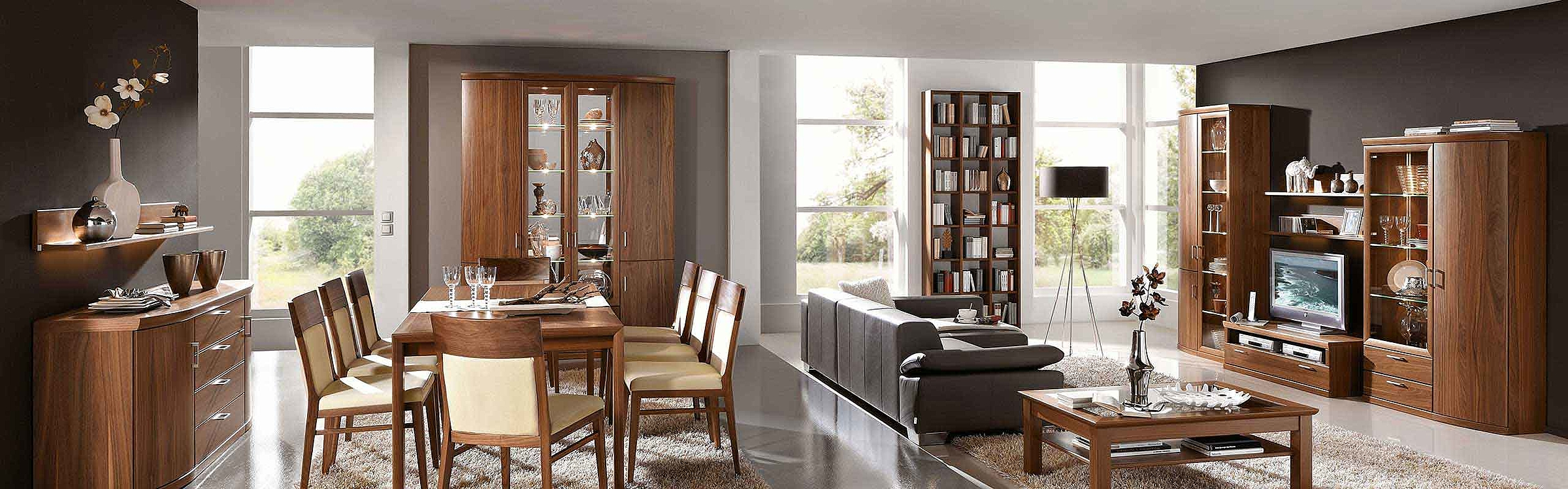 Sideboard Stuhl Esstisch Vitrine Regal Wohnwand Esszimmer Wohnzimmer Malta
