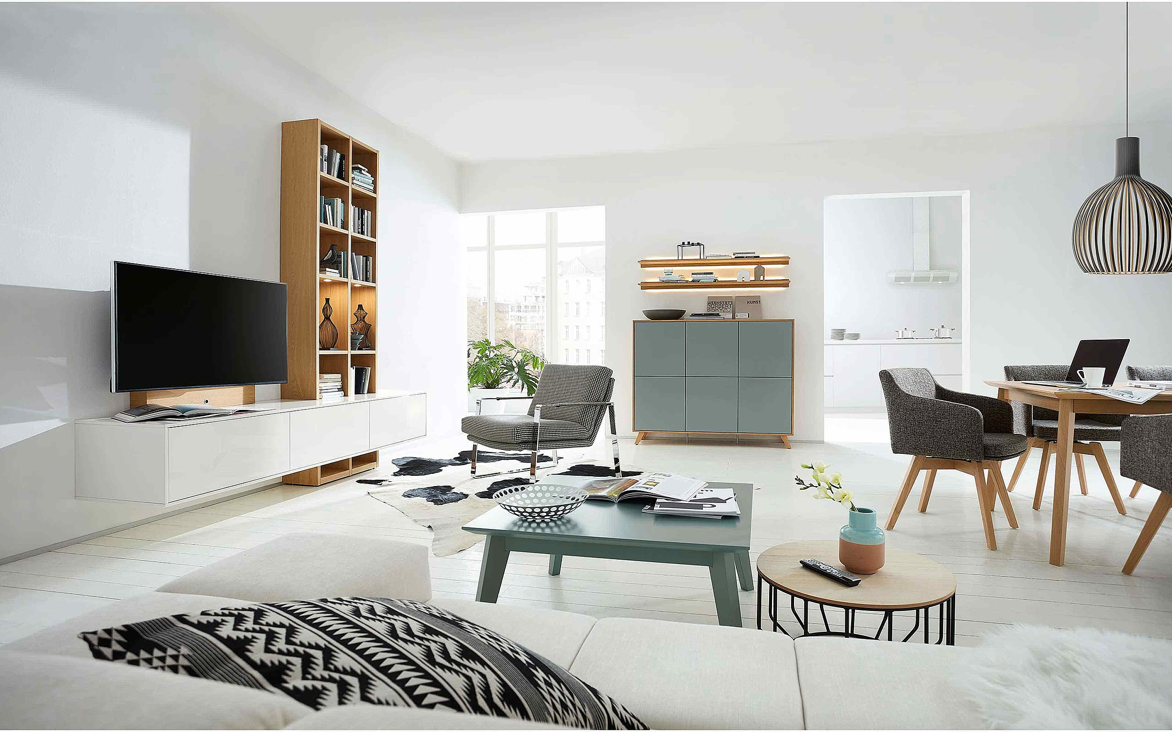 Regal Sideboard Couchtisch Esstisch Stuhl Wohnzimmer Deviso