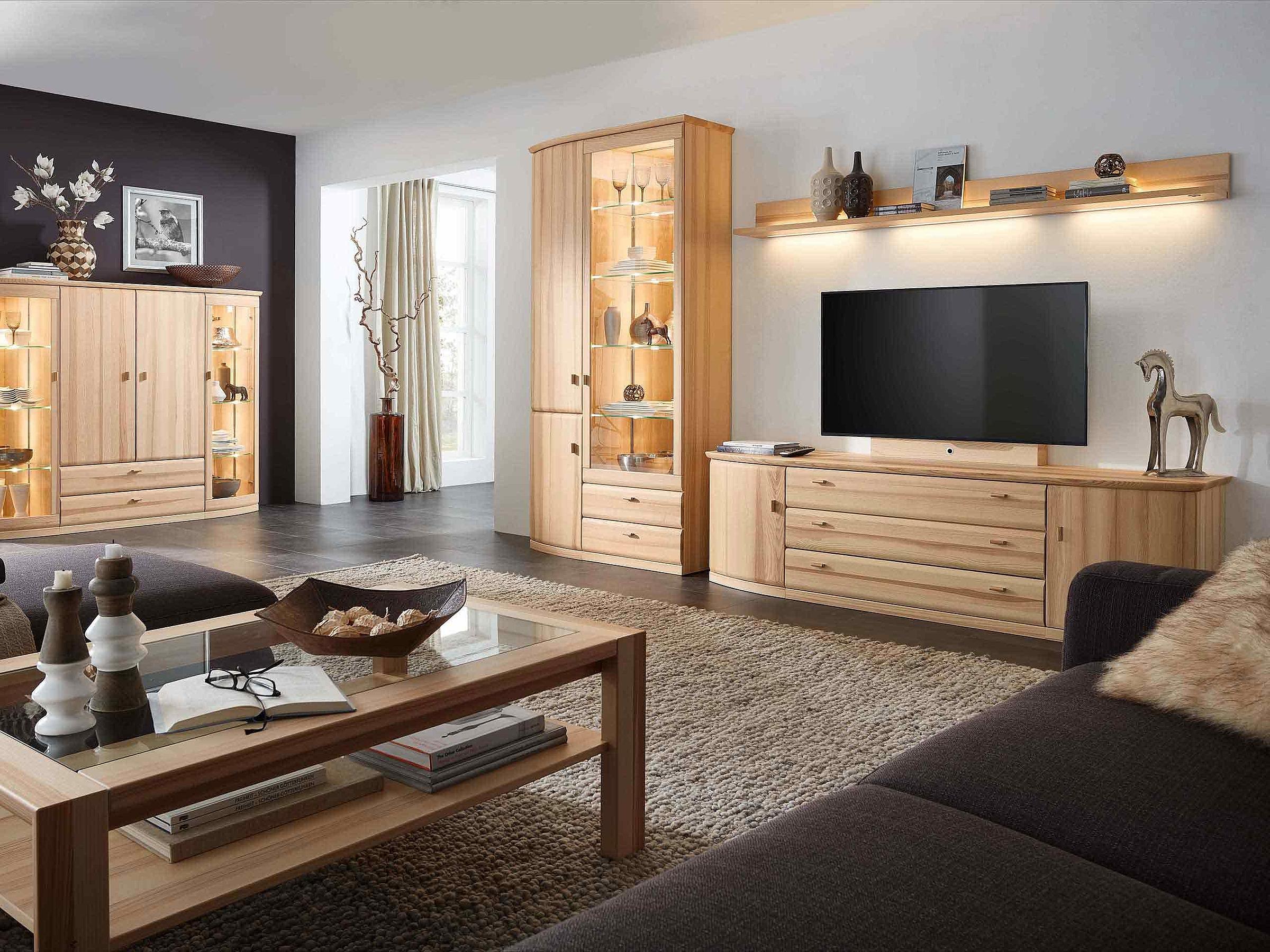 Kommode Wohnwand Couchtisch Wohnzimmer Opus Kernesche massiv