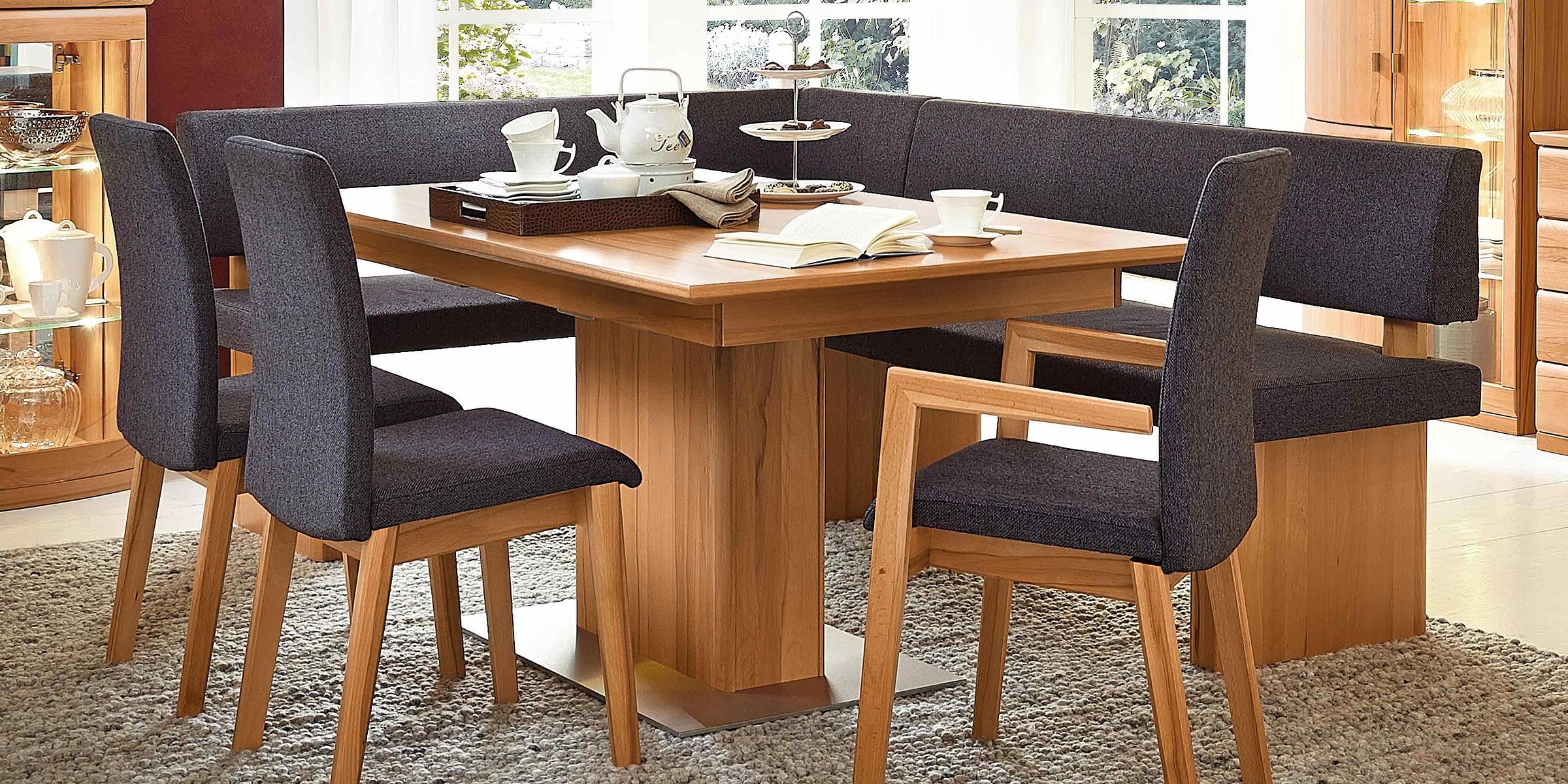 Stuhl Sitzbank Stoff Säulentisch Esszimmer Allegro Opus