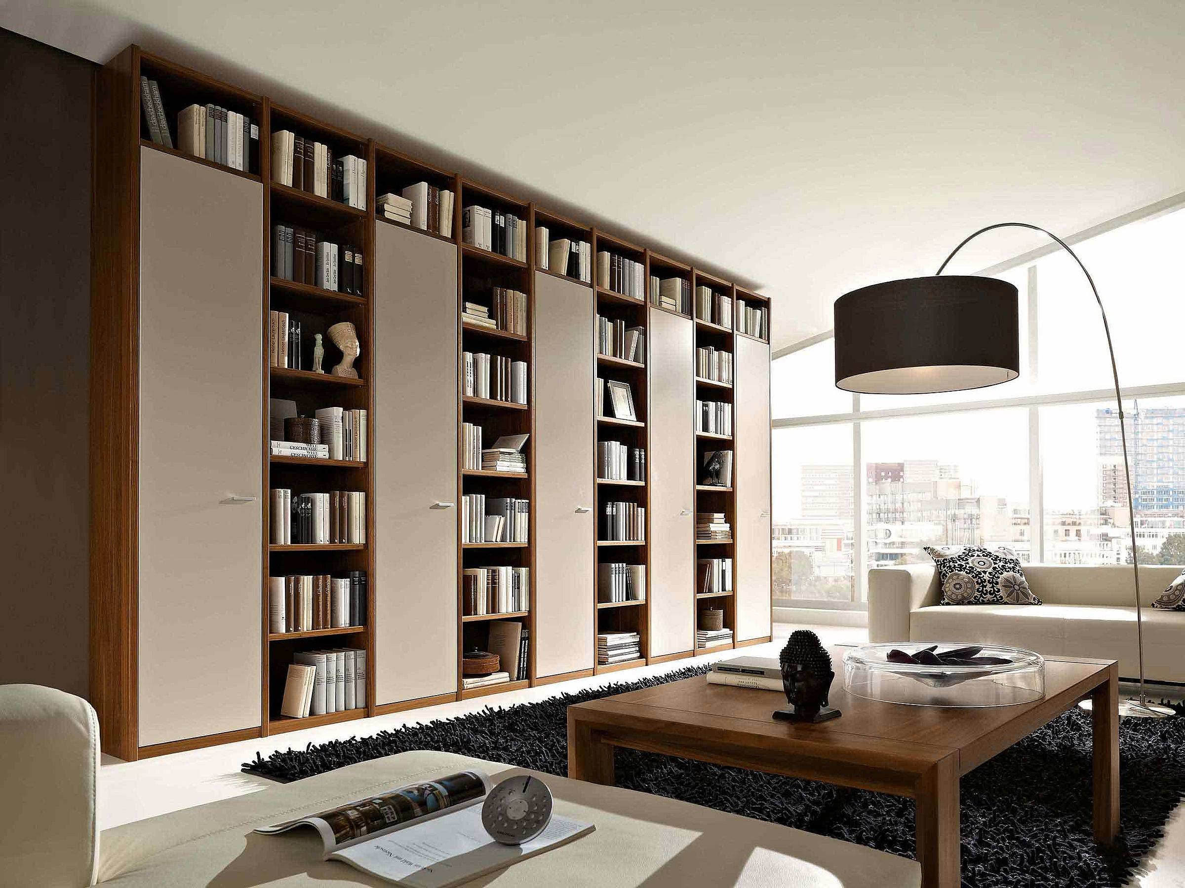 Bibliothek Couchtisch Wohnzimmer Manhattan