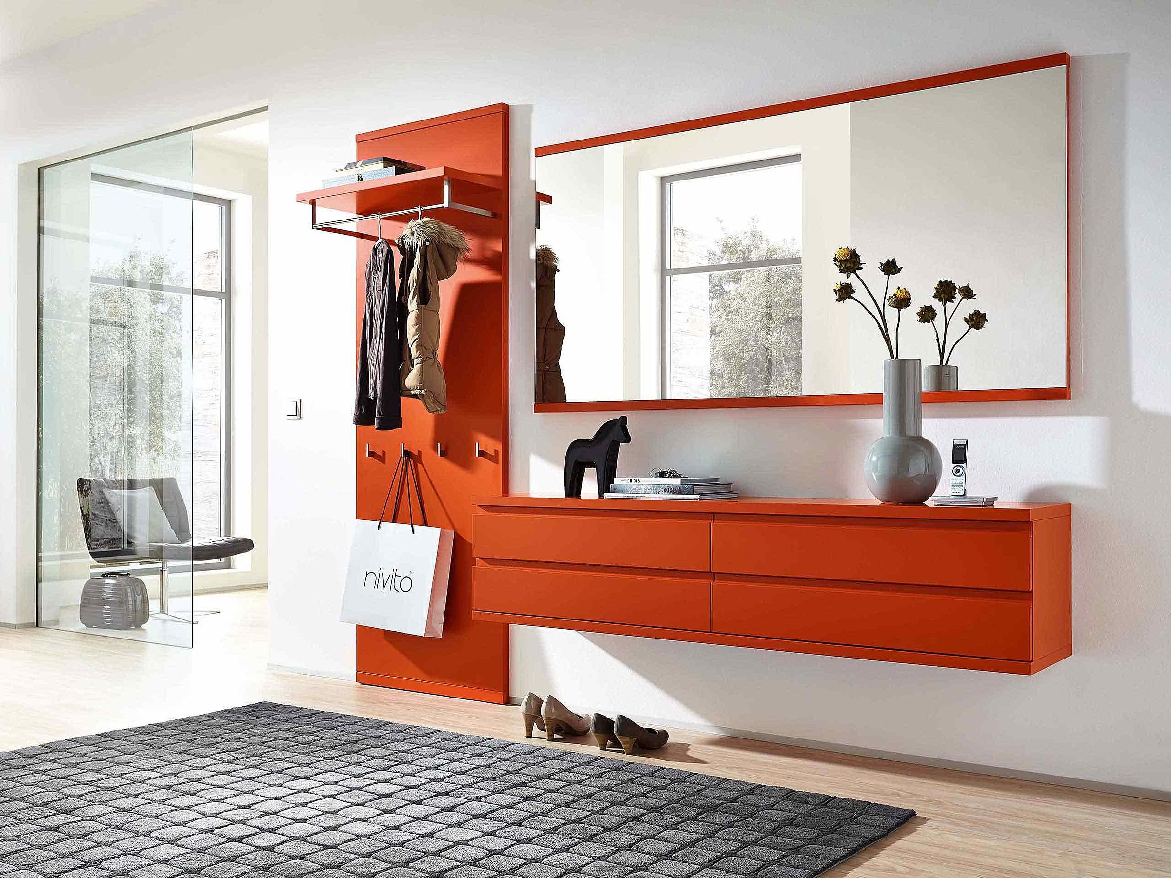 Garderobenschrank Hängeelement Spiegel Garderobe Enjoy