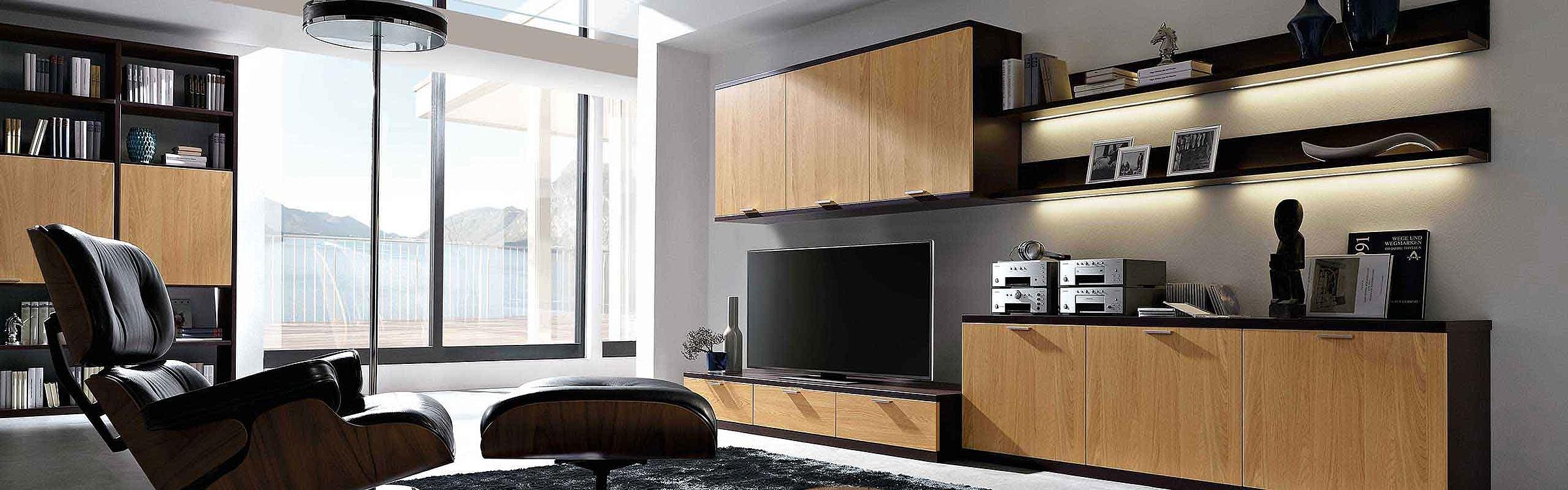 Wohnwand Wohnzimmer Siena