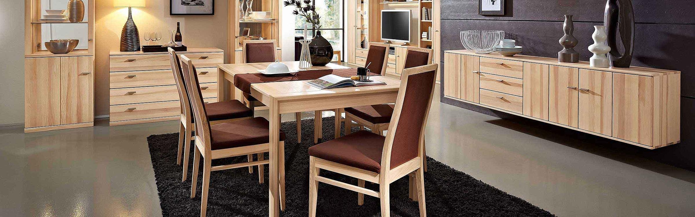 Wohnwand Esstisch Stuhl Hängesideboard Esszimmer Allegro