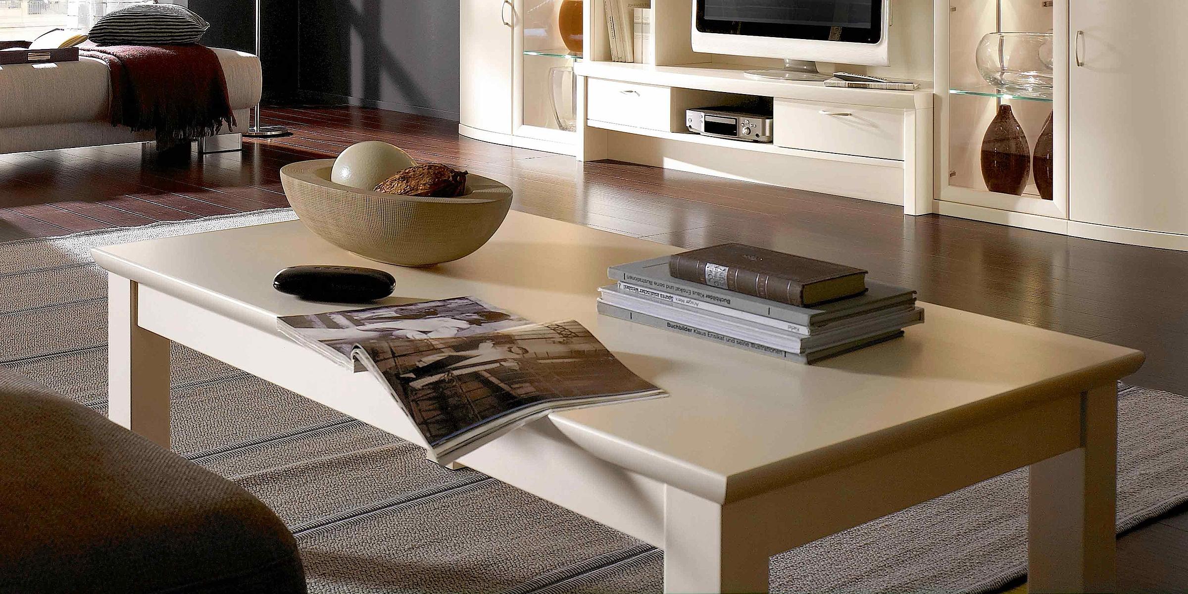 Couchtisch Wohnzimmer Opus Malta Lack crema