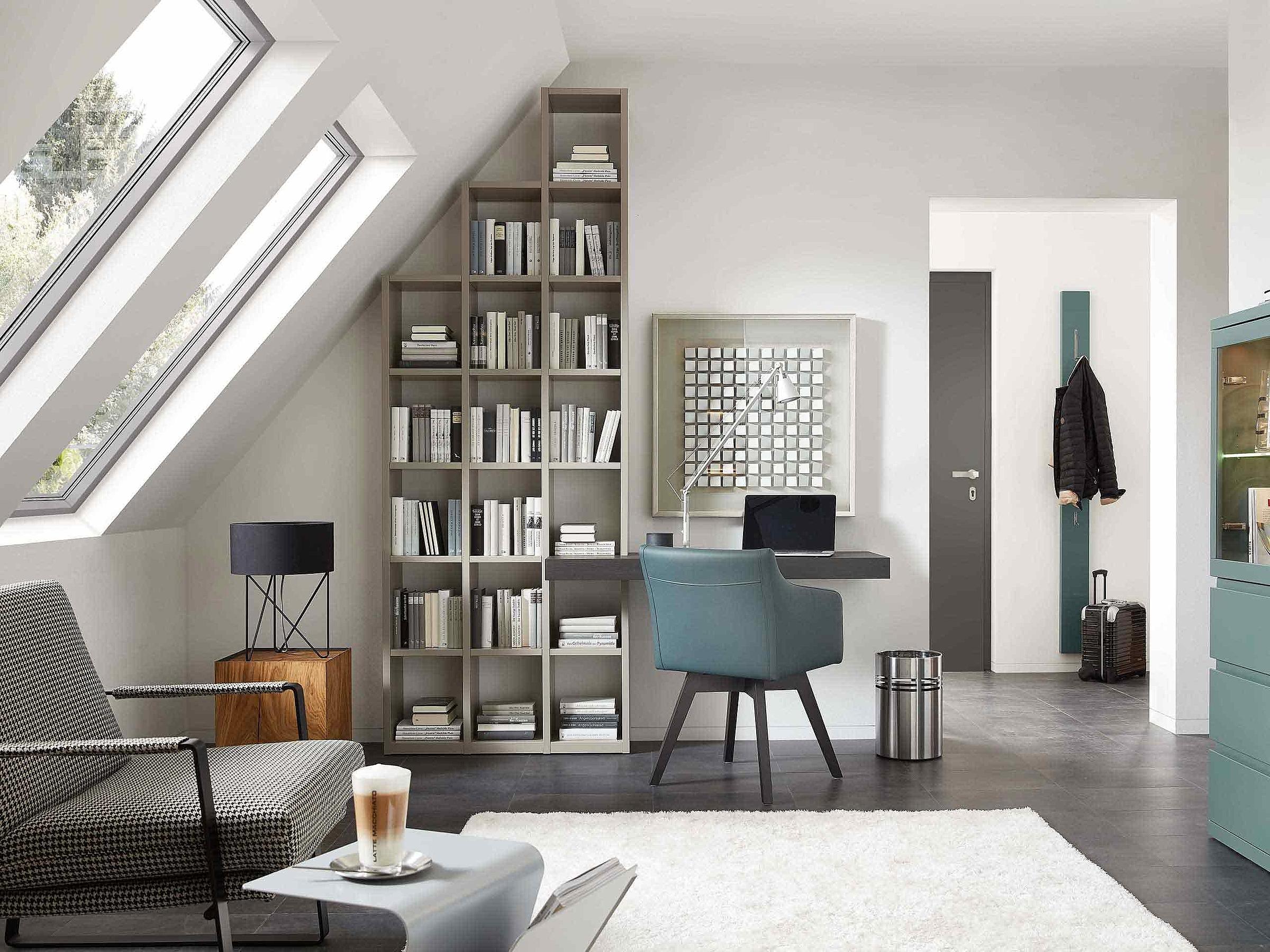 Regal Schreibplatz Stuhl Wohnzimmer Enjoy