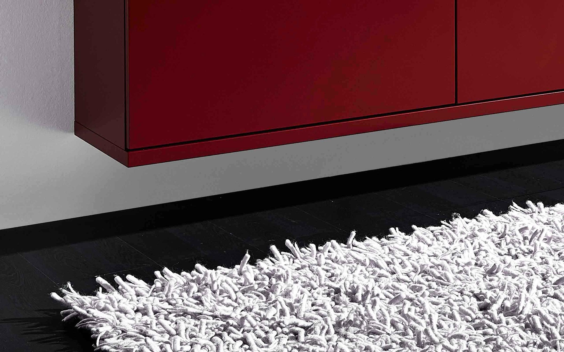 Sideboard hängend Garderobe Siena rot