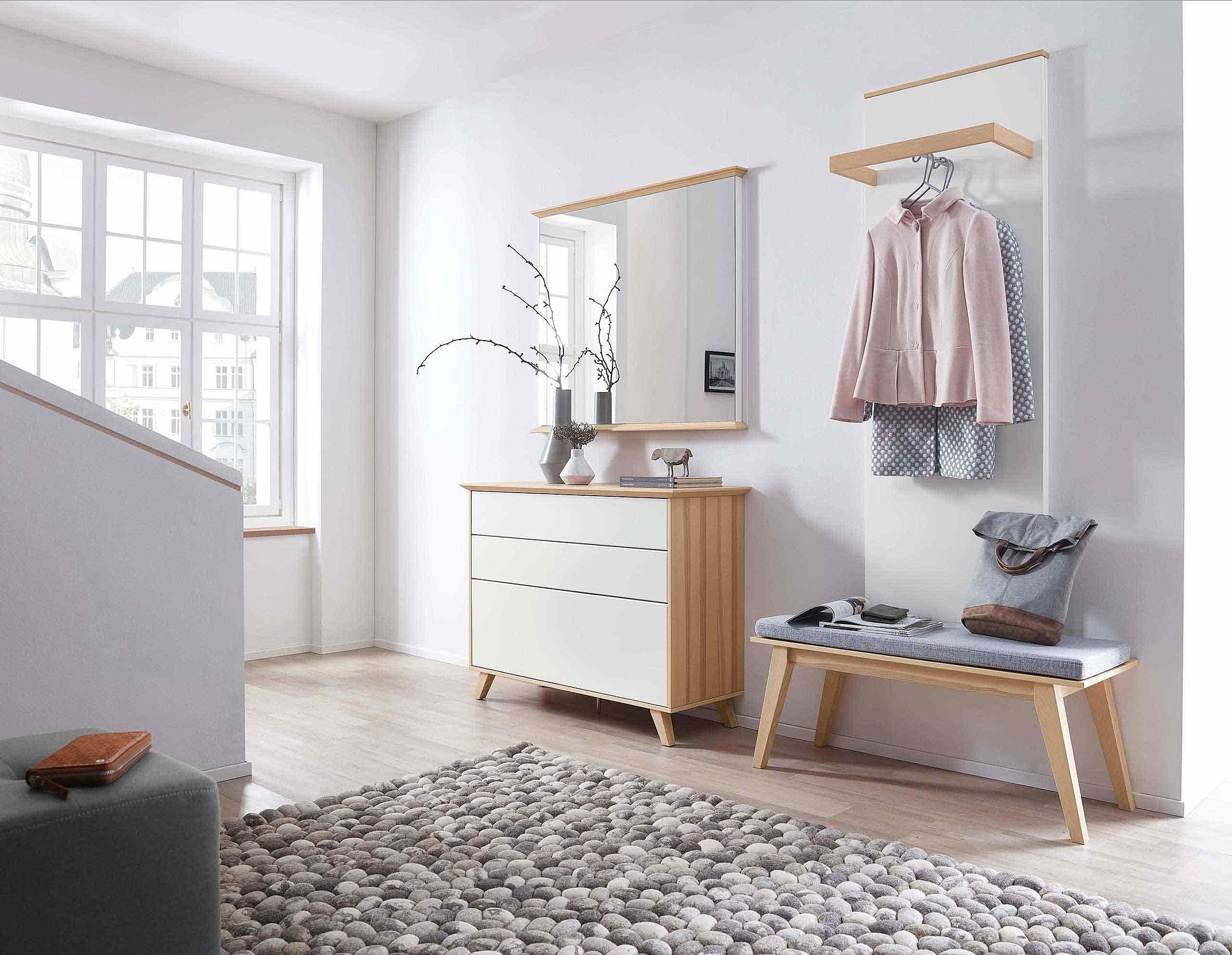 Schuhschrank Sitzbank Spiegel Garderobe Deviso