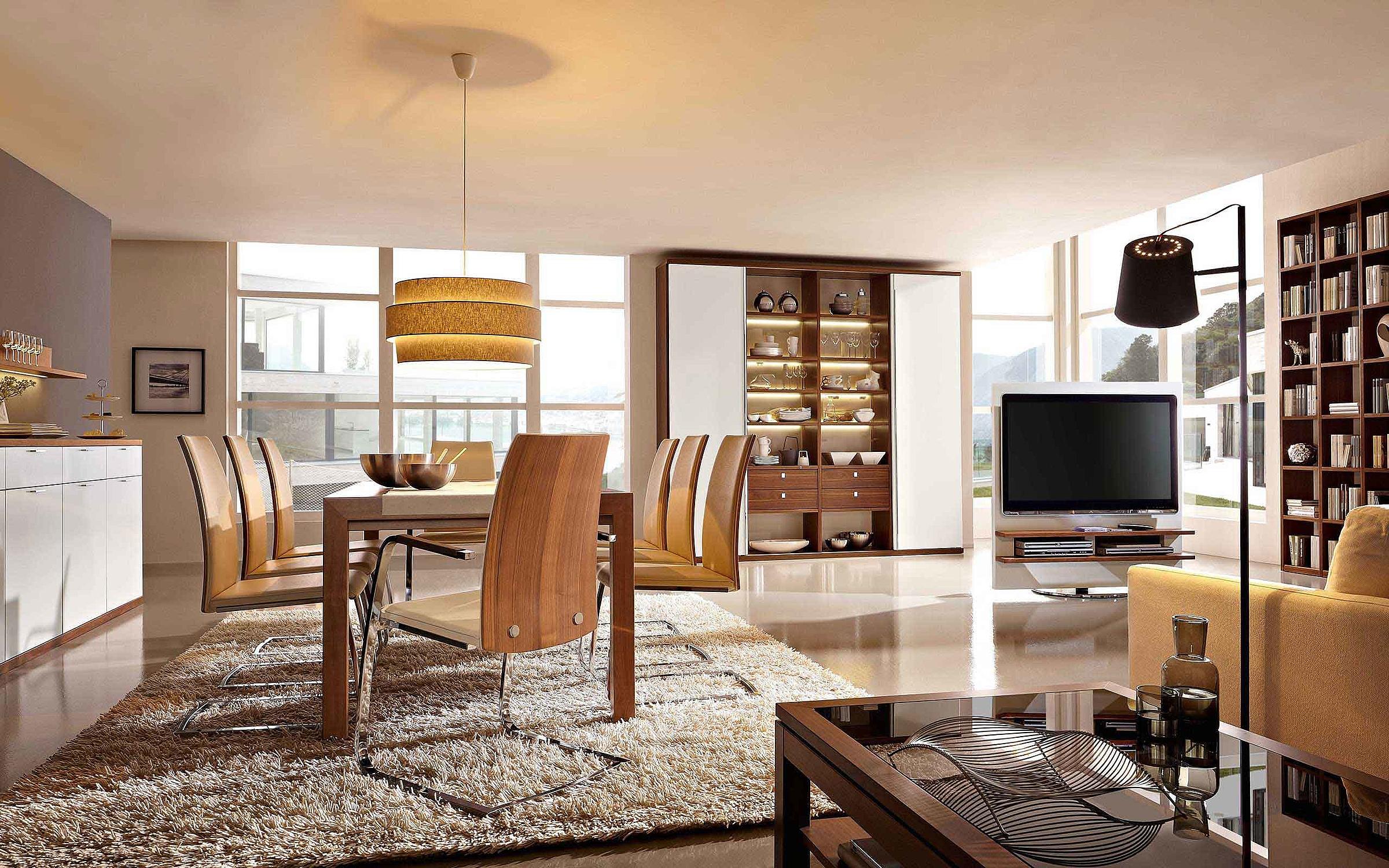 Sideboard Esstisch Stuhl Regal Esszimmer Wohnzimmer Siena