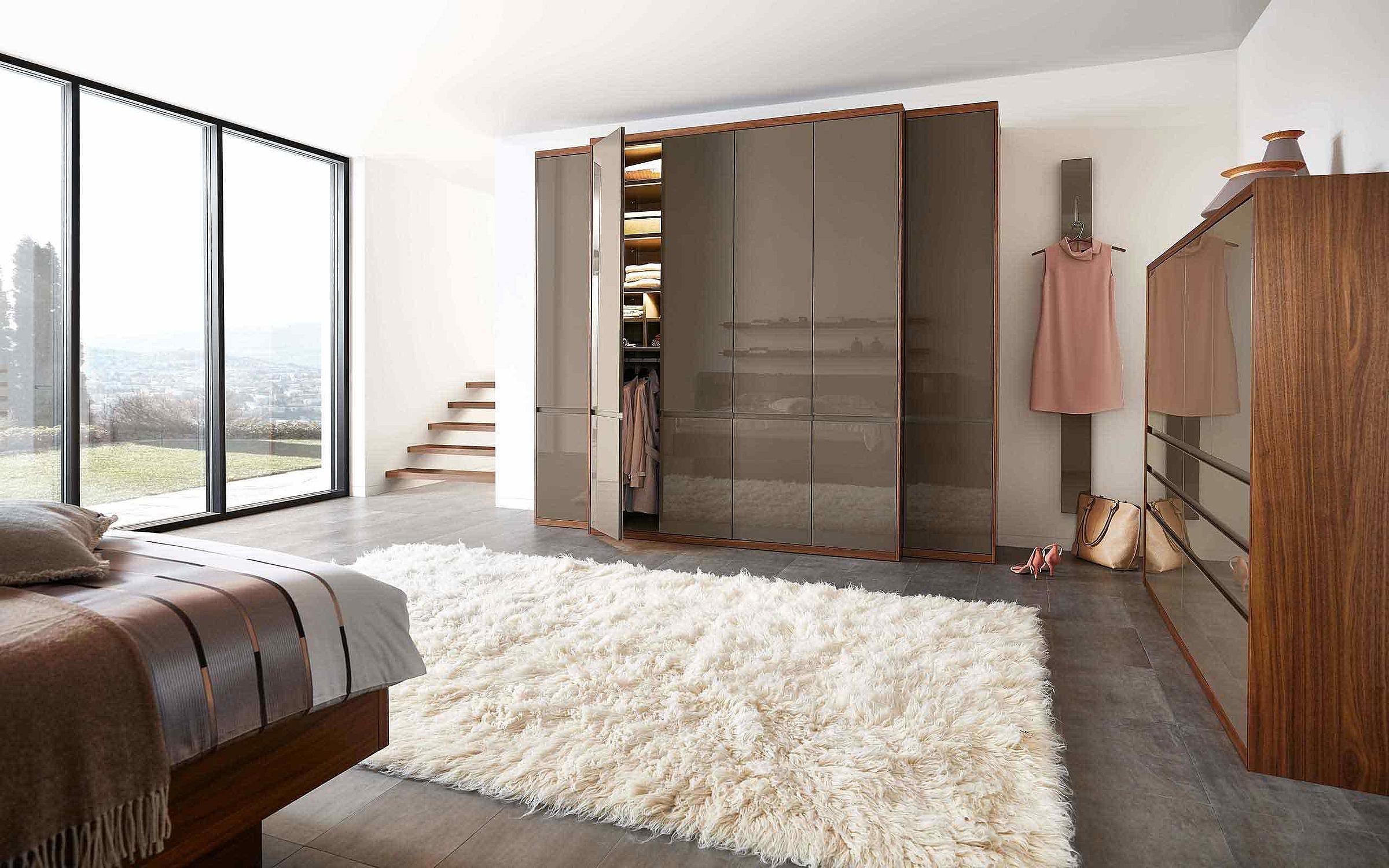 Kleiderschrank Schlafzimmer Enjoy Lack terra