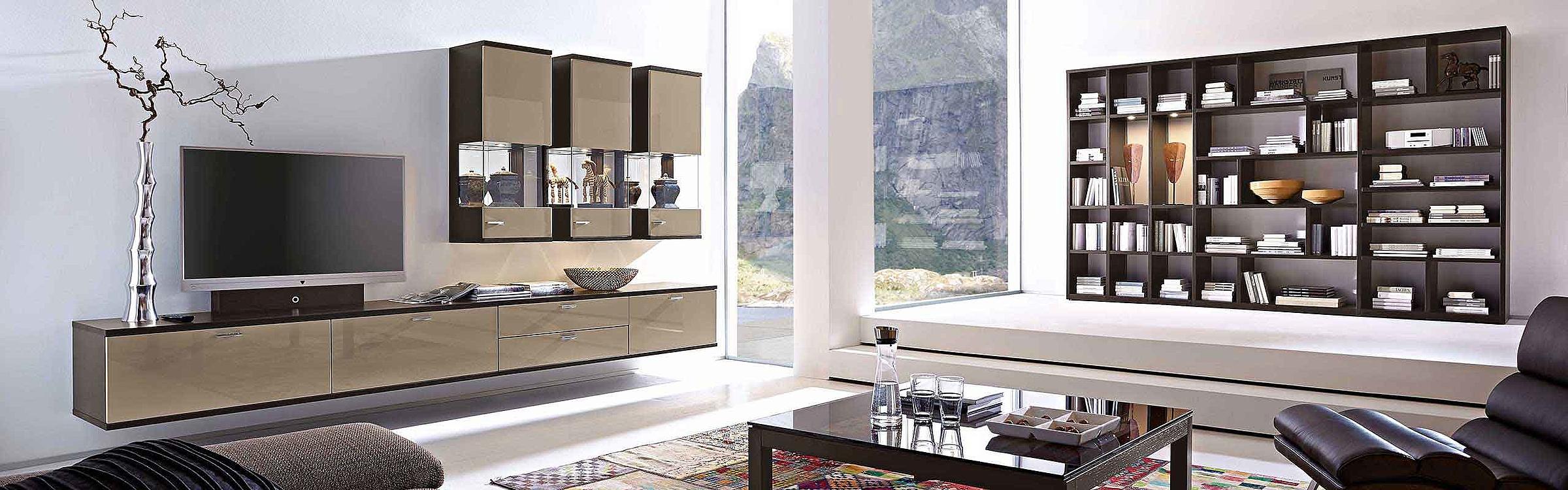 Wohnwand Regal Couchtisch Wohnzimmer Lavita