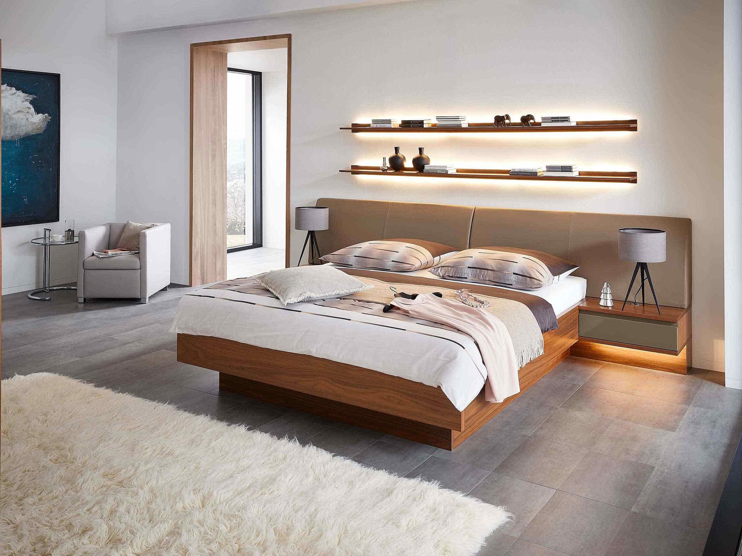 Bett Schlafzimmer Enjoy Holz Nussbaum nova