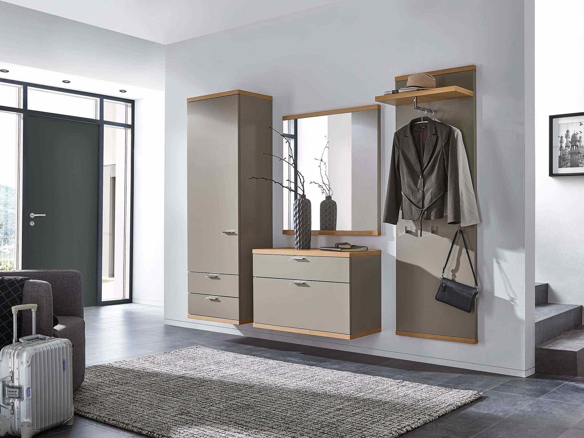 Schuhschrank hängend Garderobenpaneel hängend Spiegel Garderobe Siena