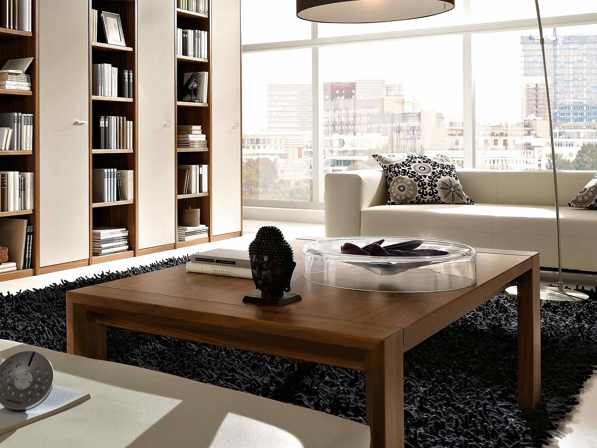Couchtisch Wohnzimmer Manhattan Dacapo Holz Nussbaum nova
