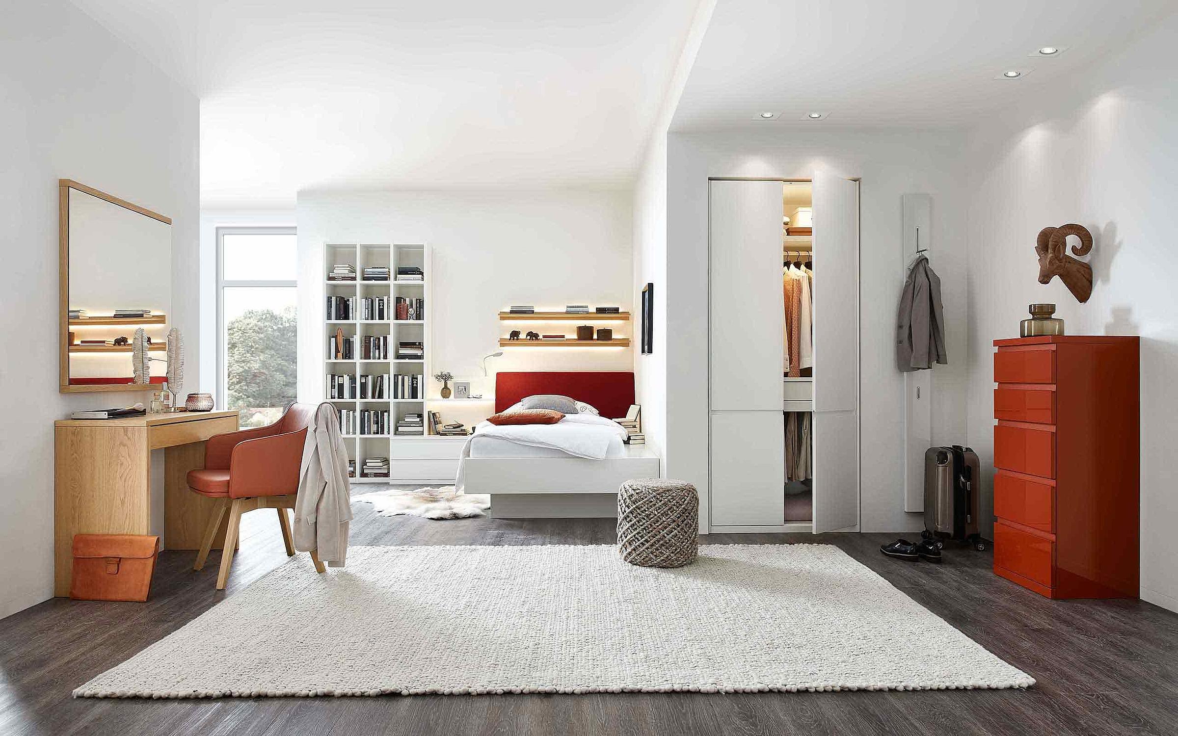 Bett Schlafzimmer Enjoy Holz Eiche sand