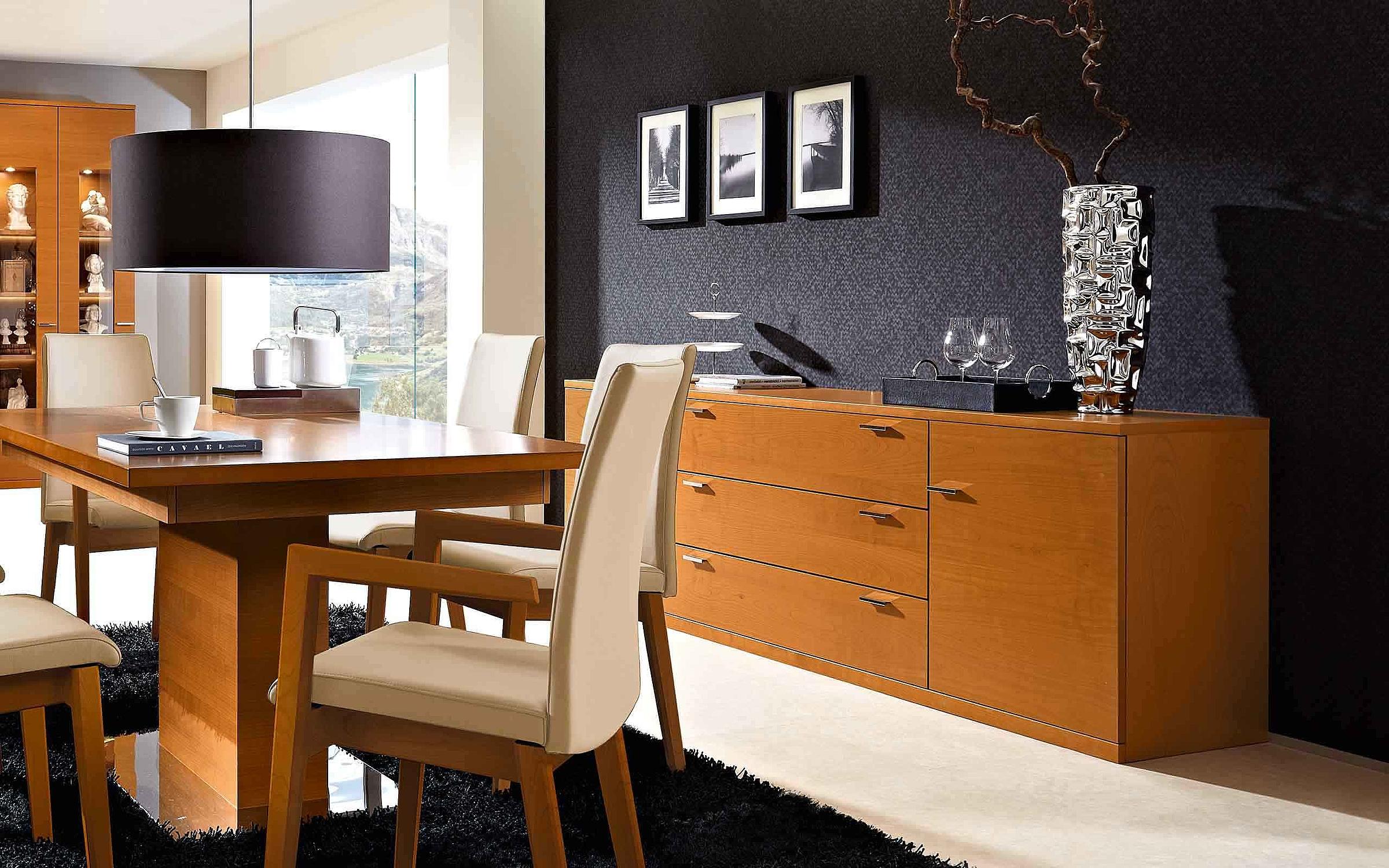 Esstisch Stuhl Sideboard Wohnzimmer Lavita Holz Kirschbaum