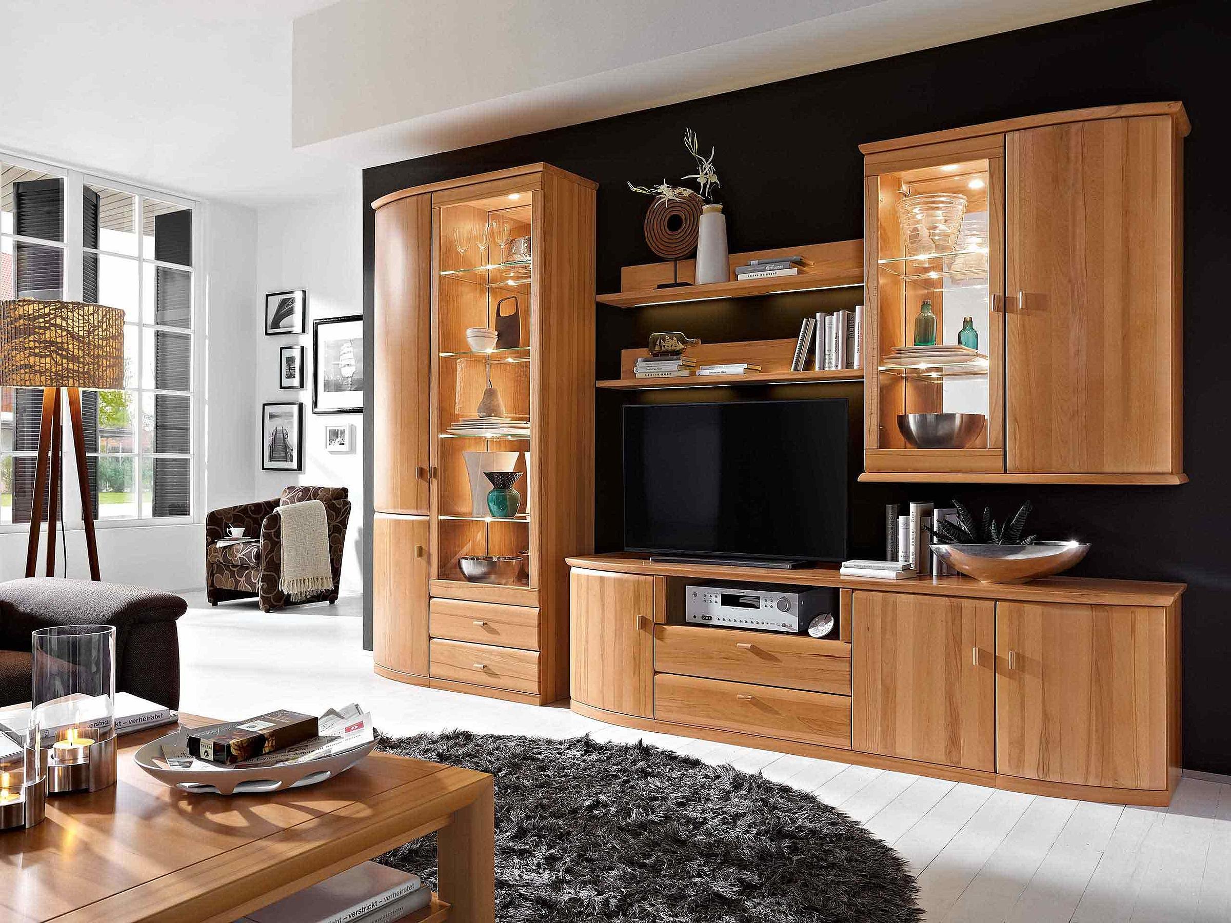 Couchtisch Wohnwand Wohnzimmer Opus Kernbuche massiv