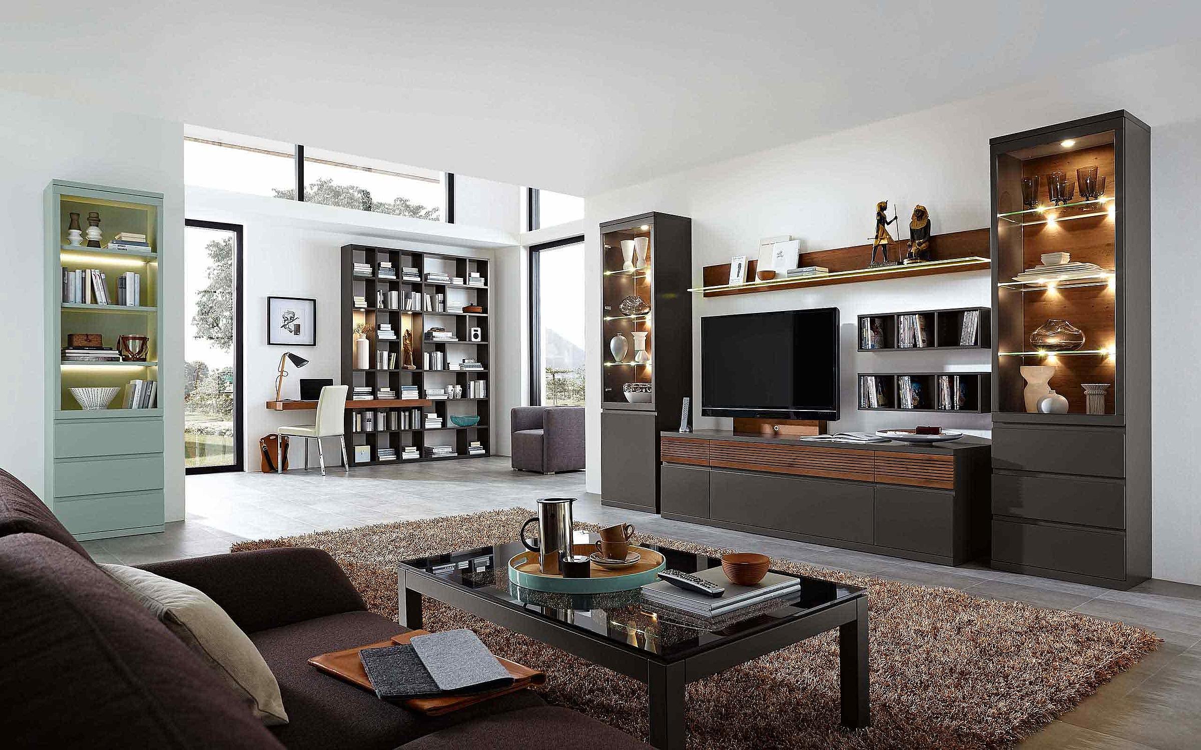 Wohnwand Regal Stuhl Couchtisch Wohnzimmer Enjoy