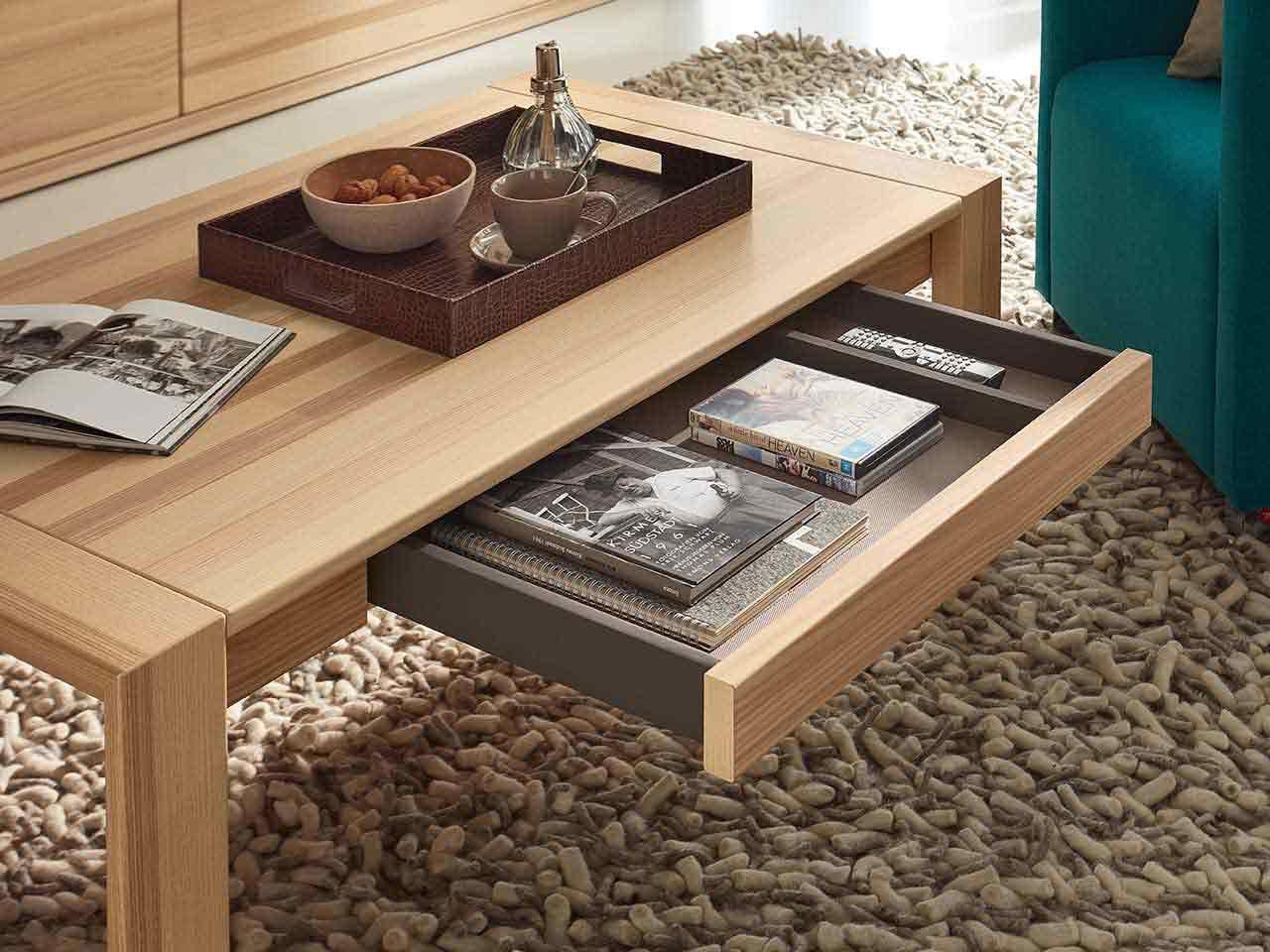 Couchtisch Schublade Wohnzimmer Allegro