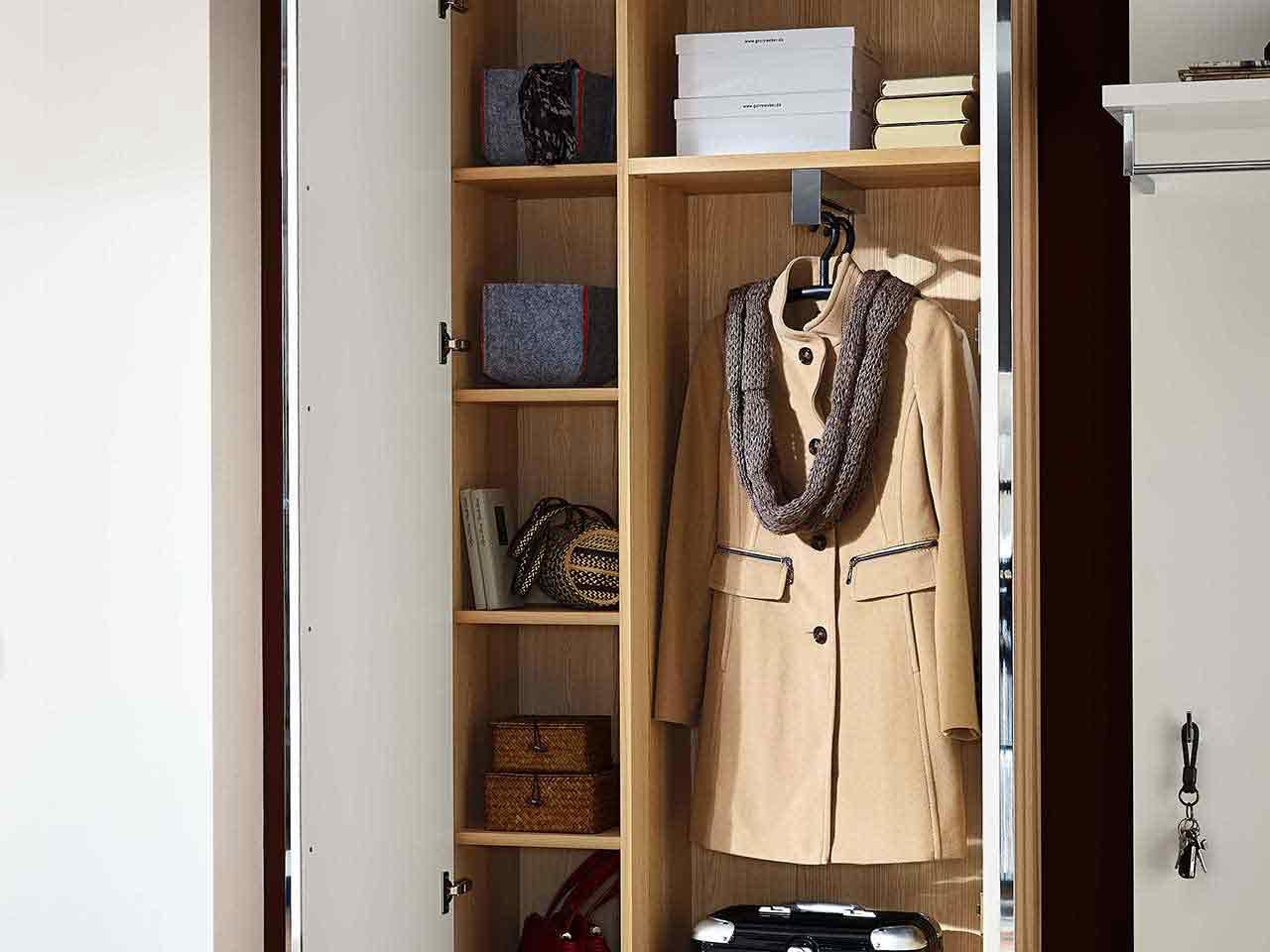 Garderobenschrank Garderobe Siena Holz Kernesche