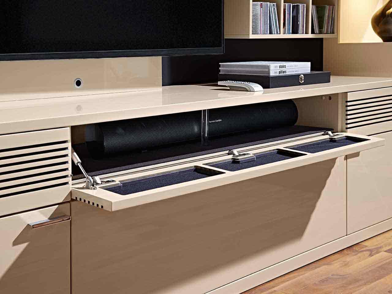 Soundbar Unterteil Wohnzimmer Lack crema Lavita