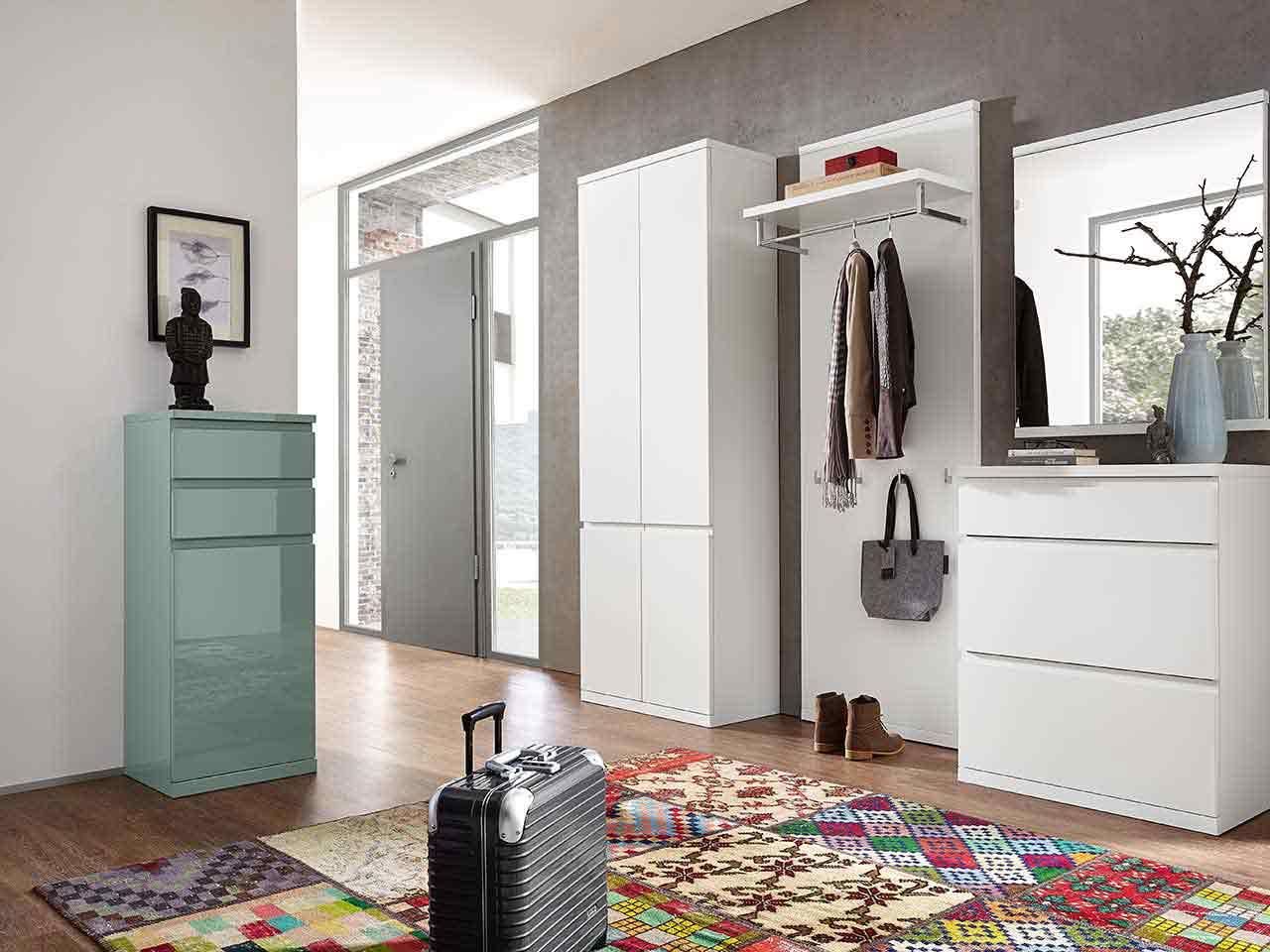 Garderobenschrank Garderobenpaneel Schuhschrank Spiegel Garderobe Enjoy
