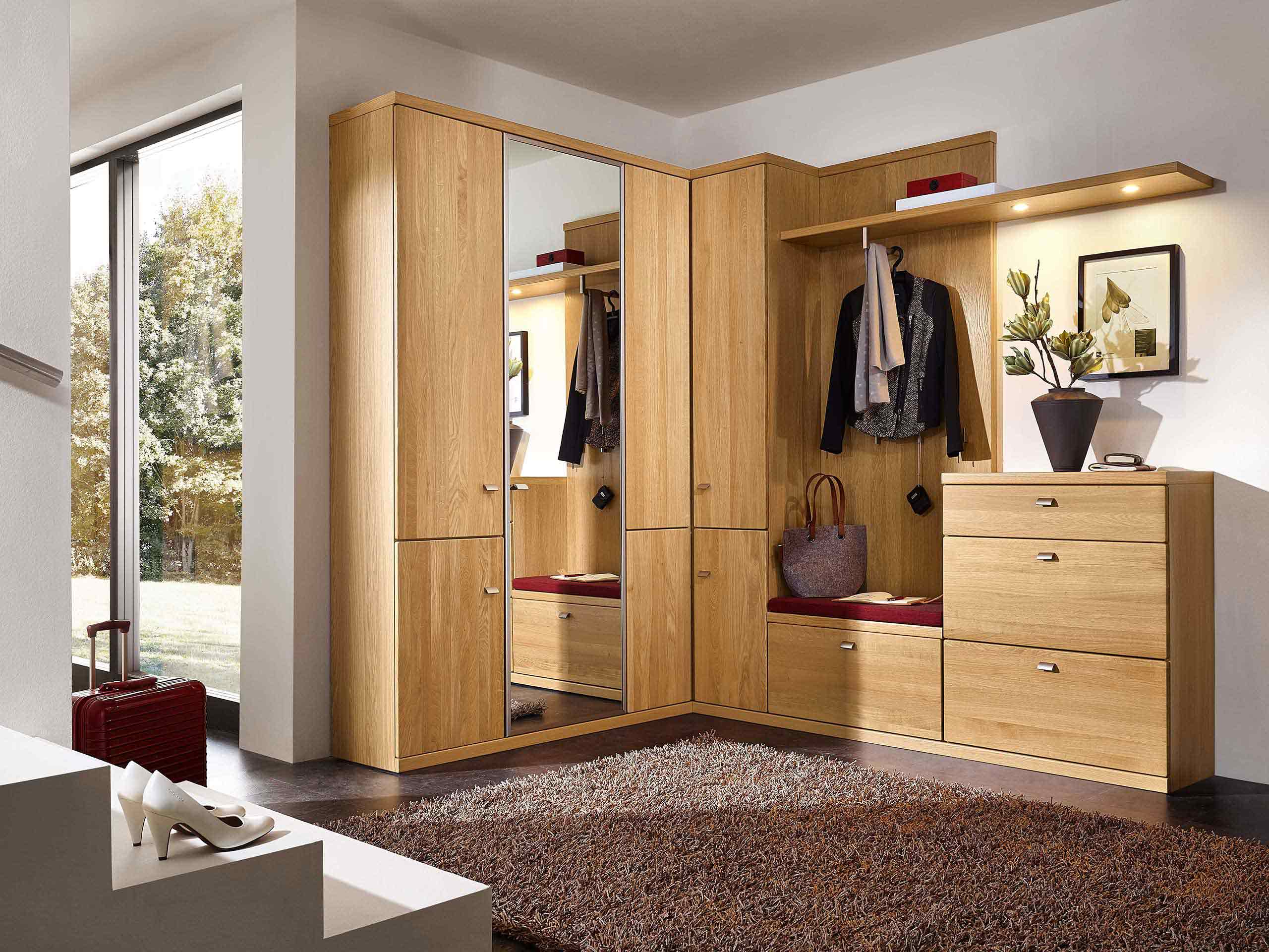 garderobe rmw wohnm. Black Bedroom Furniture Sets. Home Design Ideas